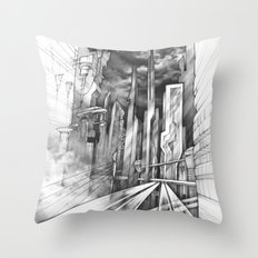 City of the Future Throw Pillow