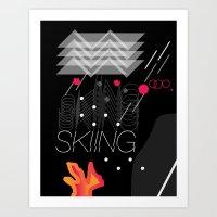 SKIÍNG Art Print