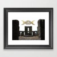Sacred Standing Stones Framed Art Print