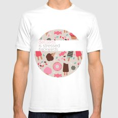 desserts! White Mens Fitted Tee SMALL