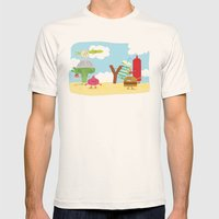 Vegetables vs. Fast food Mens Fitted Tee Natural SMALL