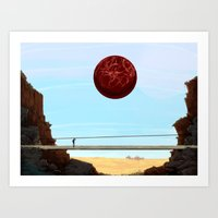 Pixel Vista Art Print