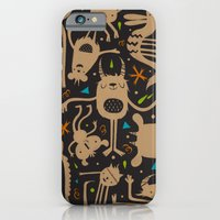 iPhone & iPod Case featuring Topsy Turvy - Dark by Chopsticksroad.