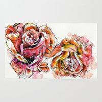 Rose Blooms Rug