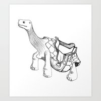 Tortoise Ride Anyone?! Art Print