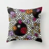 Space Bubbles Throw Pillow