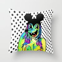 PLUS SIZE NUDE. (Mouseke… Throw Pillow