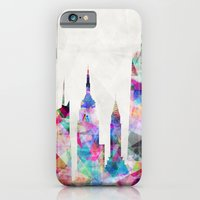 iPhone Cases featuring New York by Mareike Böhmer Graphics