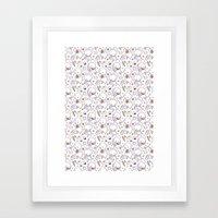 Heart Kids Pattern Framed Art Print