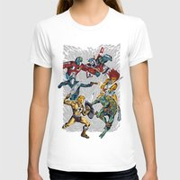 80's Smash Womens Fitted Tee White SMALL