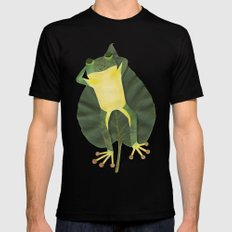 Lazy frog. Mens Fitted Tee SMALL Black