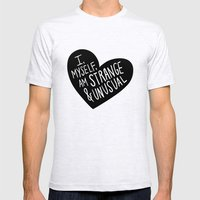 I, Myself, Am Strange An… Mens Fitted Tee Ash Grey SMALL