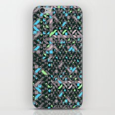 GEOMETRIC GREYS AND BLUES  iPhone & iPod Skin