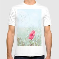 Thoughtful Poppy Mens Fitted Tee White SMALL