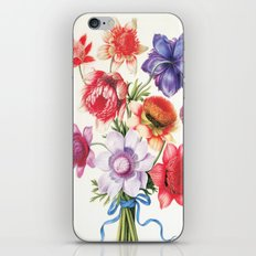 XI. Vintage Flowers Botanical Print by Pierre-Joseph Redouté - Anemones iPhone & iPod Skin