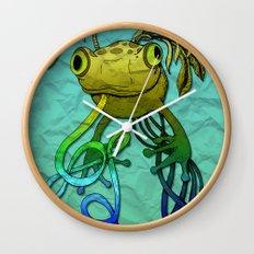 Psychoactive Frog Wall Clock