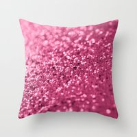 Candied Pink... Throw Pillow