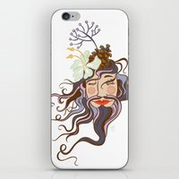 Bearded Lady iPhone & iPod Skin