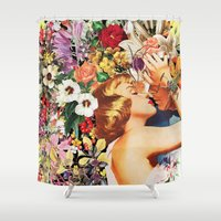 Floral Bed Shower Curtain