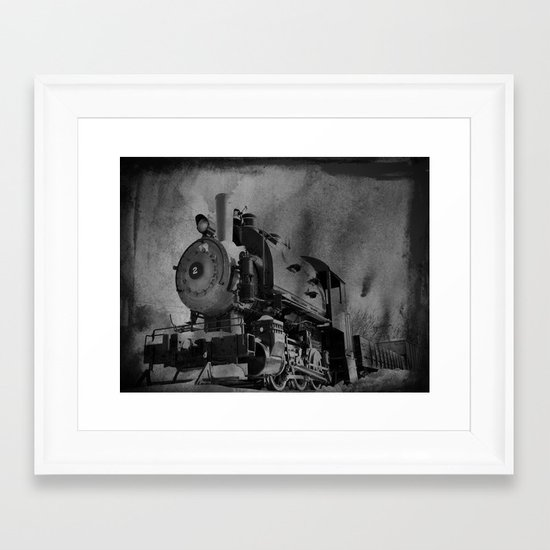 Old School Choo Choo Framed Art Print