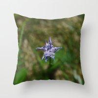 Mountain Flower Throw Pillow