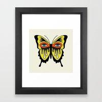 BUTTERFL-EYE Framed Art Print