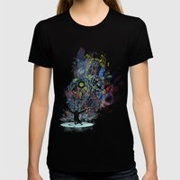 Soul Dj Womens Fitted Tee Black SMALL