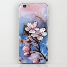 Cherry Blossoms Watercolor | Cherry Blossom Painting iPhone & iPod Skin
