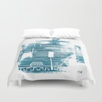 Sad Robot Duvet Cover