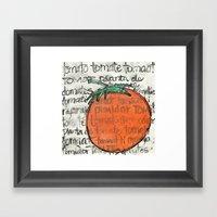 toma tomate Framed Art Print