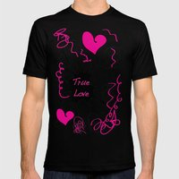 Twin Love Mens Fitted Tee Black SMALL