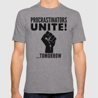 Procrastinators Unite To… Mens Fitted Tee Athletic Grey SMALL