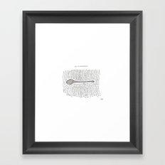 spoon Framed Art Print