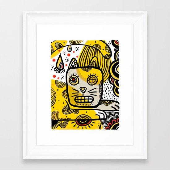 Cat Creole Framed Art Print