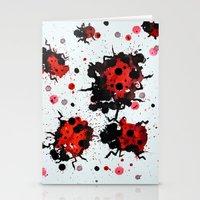 Splattered Bugs Stationery Cards