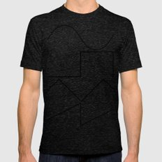 Waves Mens Fitted Tee Tri-Black SMALL