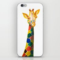 Giraffe Watercolor Print iPhone & iPod Skin