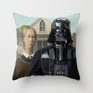 Darth Vader In American … Throw Pillow
