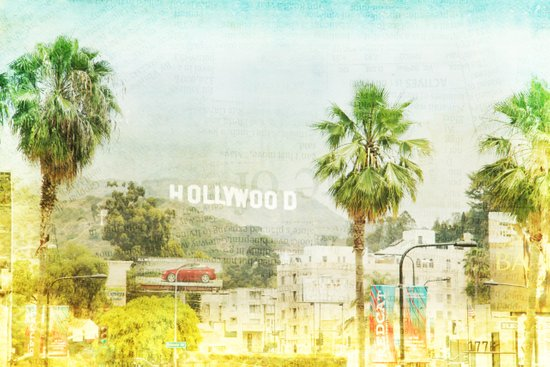 Dreams of many, nightmare of most _ hollywood sign Canvas Print