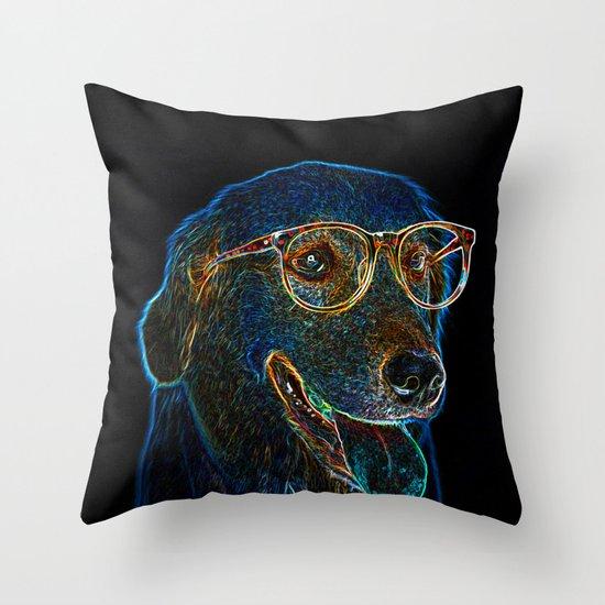 Geek Dog Throw Pillow