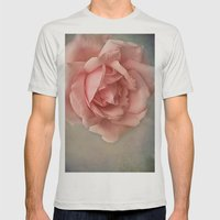 Romantic Rose Mens Fitted Tee Silver SMALL