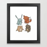 Woodland Animals Framed Art Print