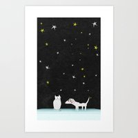 Schtick Night Art Print