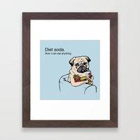 Diet Soda Framed Art Print
