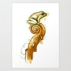 String Peeper Art Print