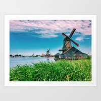 amazing windmills  Art Print