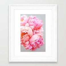 Peonies Forever Framed Art Print