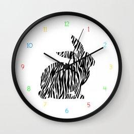 Wall Clock - Rabbit with zebra print - My Gig