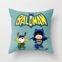 Baldman Throw Pillow