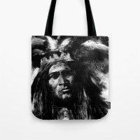 Primal - B&W Portrait of Native American Tote Bag